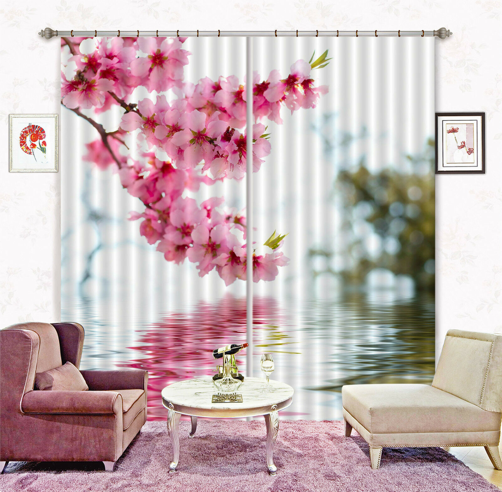 3d fiori REBE 668 blocco foto sipario pressione sipario tende tessuto finestra de