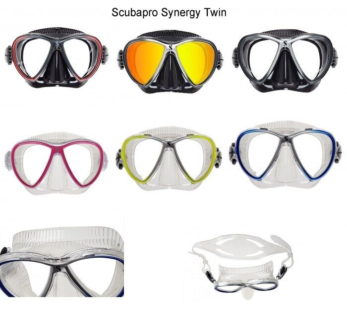 Scubapro Synergy Twin Diving Mask Two Glass Mask Diving Mask Various Colours