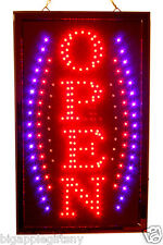 Large Vertical Animated Led Open Sign W Motion Onoff Switch 21 X 13 020