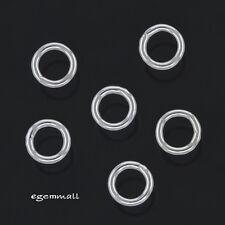 30 Sterling Silver Closed Jump Ring 3 mm 22ga ~ 23ga 0.6mm #97302