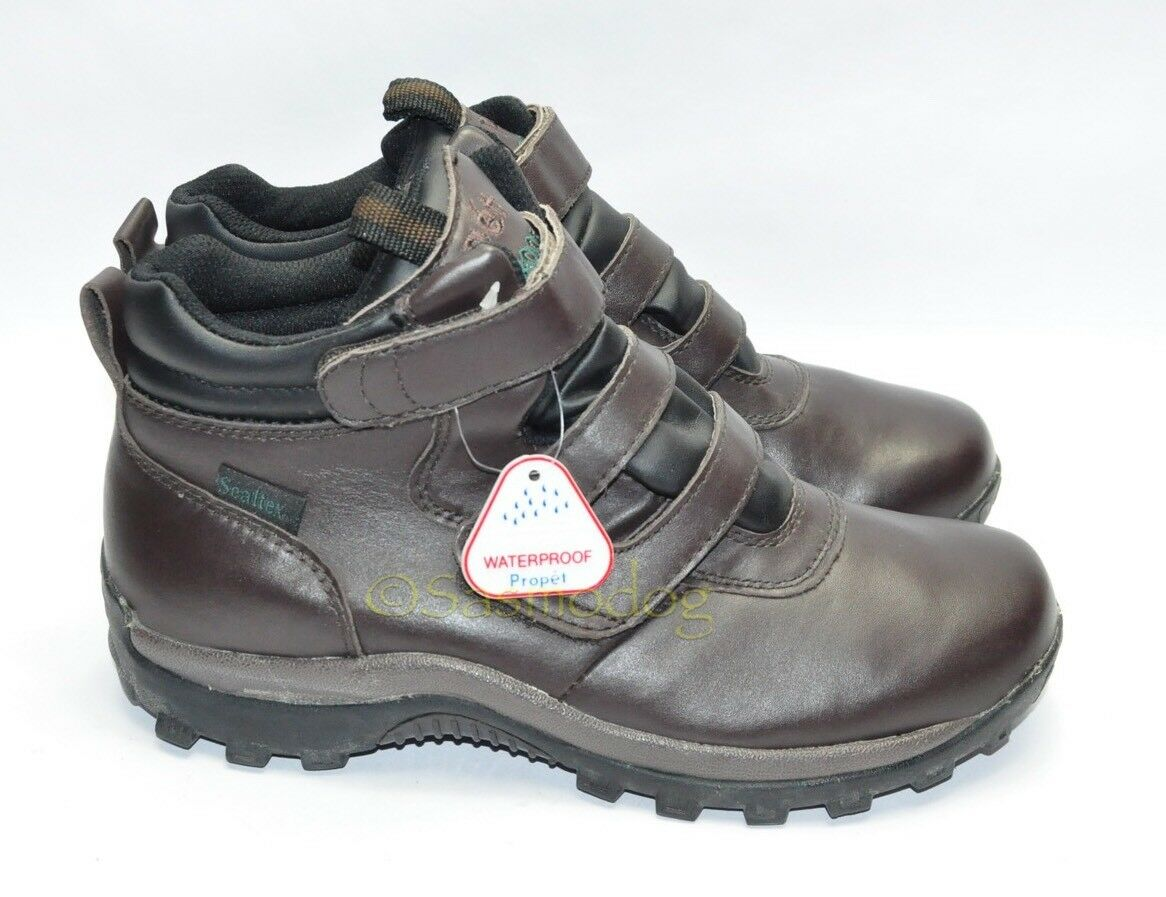 Womens Brand New PROPET Waterproof Hiking Boots Sz 9 Narrow Brown Leather