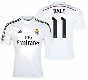 new concept 41798 e7baa Details about ADIDAS GARETH BALE REAL MADRID HOME JERSEY 2014/15.