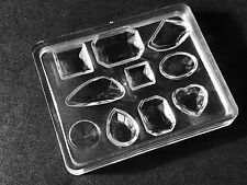 10 cell Cabochon Mold Mould Epoxy Resin Jewelry Pendant Necklace Making Bead