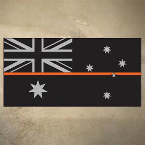 AUSTRALIAN-THIN-ORANGE-LINE-FLAG-DECAL-STICKER-100mm-x-50mm-EMS-SES