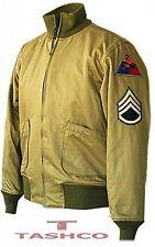 Fury Brad Pitt CISTERNA ww2 Militare Giacca di cotone di alta qualità