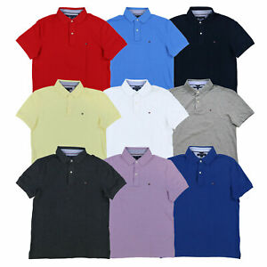 Tommy Hilfiger Mens Polo Shirt Custom Fit Mesh Casual Cotton Collared New Nwt