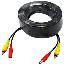 200FT 60M BNC DC RCA Audio Video Power Cable Connector for CCTV Camera System US