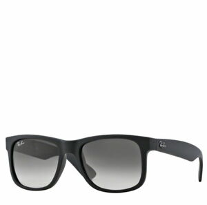 eda1d7e37b Image is loading Ray-Ban-Justin-Sunglasses-Black-Rubber-55