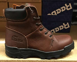 Cobra Men's Work Boots Brown Leather C1121 Sz6-13 Fast ship SS