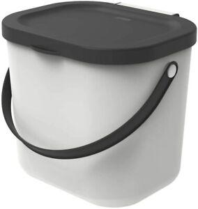 ROTHO Müll Eimer Küche Mülltrennung Kunststoff 6 Liter Rest Abfall Papier weiß
