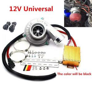 Electric-Turbo-Supercharger-Kit-Turbocharger-Air-Filter-Intake-for-12V-Car-Bike