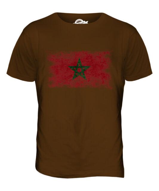 MOROCCO FADED FLAG MENS T-SHIRT TEE TOP AMERRUK AL-MA?R?B ELME?RIB MOROCCAN