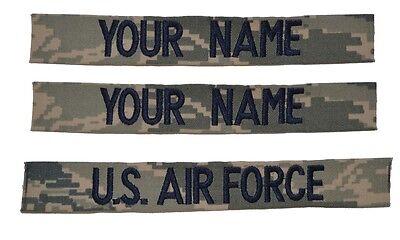 CUSTOM 3 Piece ABU Name Tape Set SEWON - USAF U.S. Air Force Military