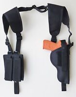 Shoulder Holster For S&w Sw9ve,40ve With Underbarrel Laser-dbl Mag Pch Vertical