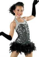 'money' Black Silver Tap Jazz Skating Dance Competition Costume Pageant Ooc
