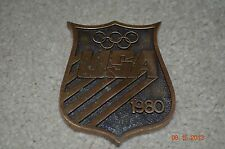 1980 OLYMPIC BRASS PAPER WEIGHT