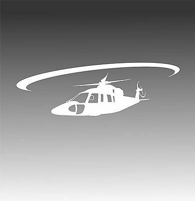 S76 Helicopter Decal S 76 Chopper In Flight Crew Pilot Sticker