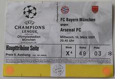 OLD TICKET * CL Bayern Munchen Germany - Arsenal FC London England