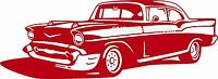 1957 Chevy Bel Air Chevrolet 57 Style B Vinyl Decal Your Color Choice Sticker