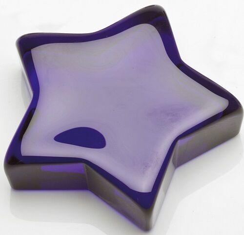 Mosser USA Cobalt Blue Solid Glass Star Paperweight
