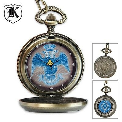 Masons Classic Masonic Double Headed Eagle Pocket Watch