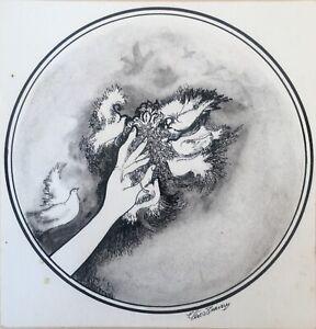 Drawing by Enrique Perez Triana, 1979. Original Signed. Cuban Art