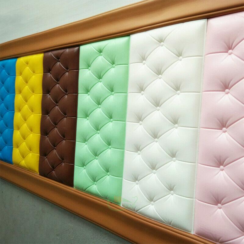 60*30cm 3D Foam Waterproof Self Adhesive Wall Sticker For Living Room Bedroom
