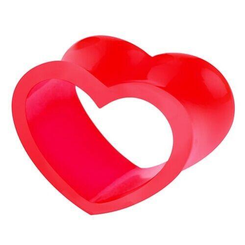Silicona Carne Oreja Túnel Piercing Joyería Enchufe Motif forma corazón doble abocinado