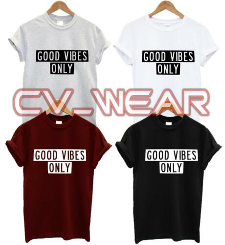 Good vibes seulement t shirt tee tshirt Drôle cite alimentaire Tumblr hipster unisexe