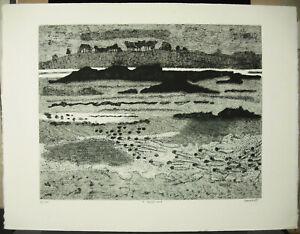 Jacques-Ramondot-034-Low-Sea-034-Print-Original-c1970-66-cm-Low-Tide-Etching
