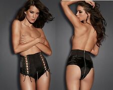UK Women's Zip Crotch Sexy Lingerie Underwear Knickers Briefs Shorts Panties C28
