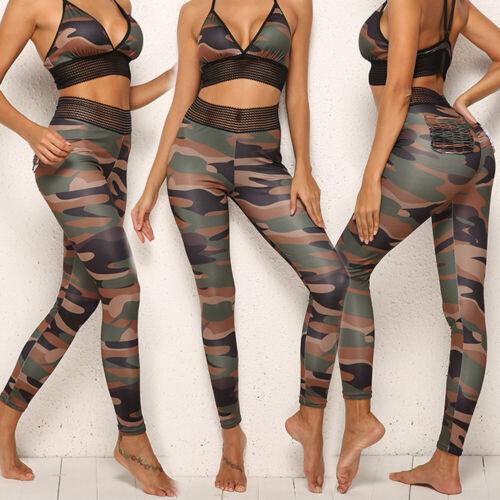 Womens Butt Lift Yoga Pants Ladies Push Up Leggings Sports Gym Fitness Trousers
