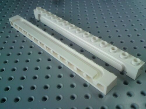 White x2 Lego Brick with Groove 1x14 for Sliding Garage Doors 4217