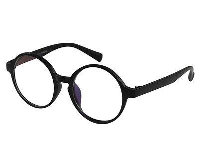 EBE Reading Glasses Mens Womens Anti Glare Bold Round Frame Matte Black Tr-90 RX