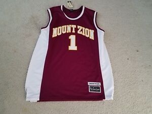 004661ab9b2 Tracy McGrady High School Legends Mt. Zion Stitch Sewn Jersey NBA sz ...
