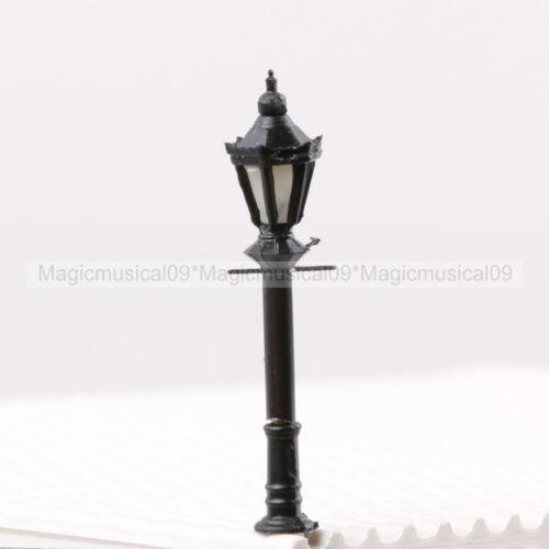 5PCS 1//200 1:200 LED Park Lanterns Street Lamp Model Railway Warm White LH-3