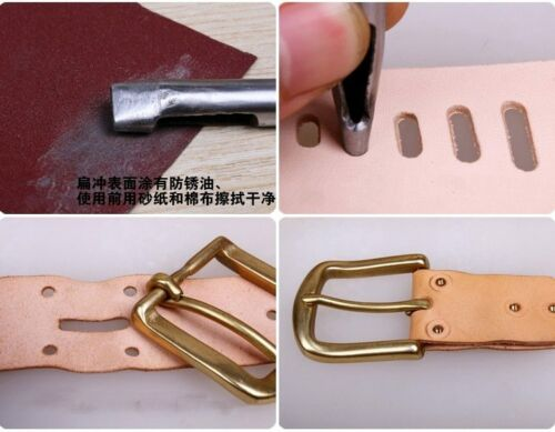 4mm DIY Leather Craft Rectangle Steel Punch Hole Hollow Tools Strap Belt Square