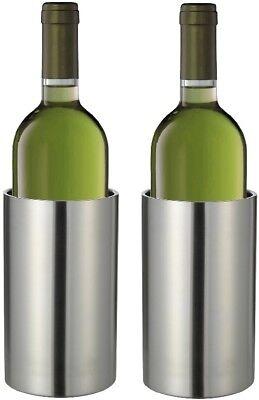 2x Flaschenkühler Weinkühler Kunststoff Sektkühler doppelwandig Getränkekühler