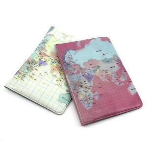 Stylish Map Pattern Passport Holder Protector Cover Case Cards Travel Organizer