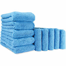 Autobright 10x Plush Microfibre Drying Towels Car Wax 380gsm Car Care Cleaning