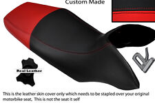 BLACK & BRIGHT RED CUSTOM FITS HONDA TRANSALP XL 700 V 08-12 DUAL SEAT COVER