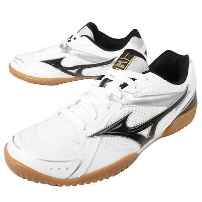 Athletic Shoes Industrious Mizuno Crossmatch Plio Rx3 White Black Mens Table Tennis Indoor 81ga16-3009