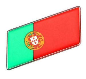 Aufkleber-Portugal-3D-Auf-Kleber-Schriftzug-Flagge-Metall-selbstklebend
