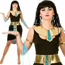 Adult 6-20 Cleopatra Black Costume Egyptian Queen Fancy Dress Ladies Outfit