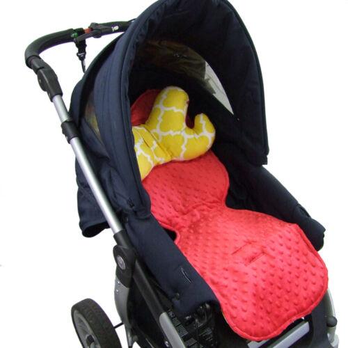 BAMBINIWELT Auflage SITZUNTERLAGE für Buggy Kinderwagen Babyschale DESIGN MINKY