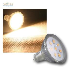 MR11-Strahler-8-SMD-LED-warmweiss-140lm-12V-2W-Leuchtmittel-Birne-Spot-Lampe