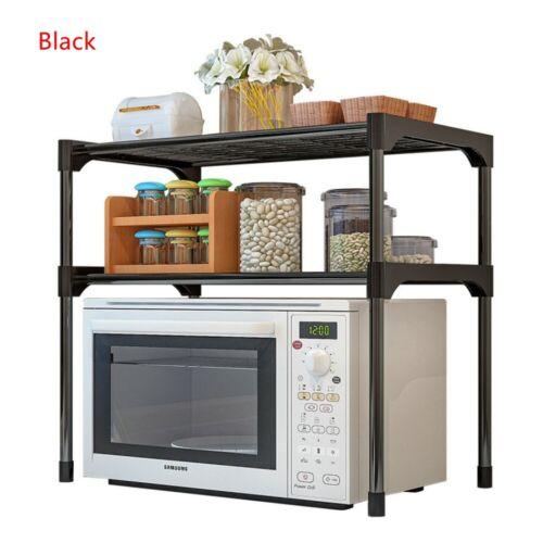 Home Microwave Oven Shelf Kitchen Tableware Bowls Holder Bathroom Storage Rack