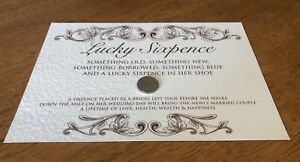 Image is loading WEDDING-POEM-LUCKY-SIXPENCE-GIFT-FOR-BRIDE-REAL-