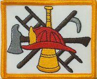 Fire Department Firefighter Logo Iron-on Patch Emblem Gold Border 456