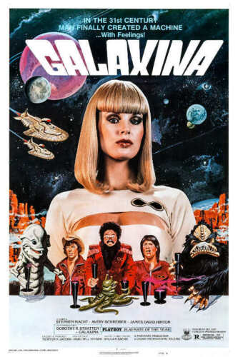 1980 GALAXINA VINTAGE SCI-FI COMEDY MOVIE POSTER PRINT STYLE B 24x16 9 MIL PAPER